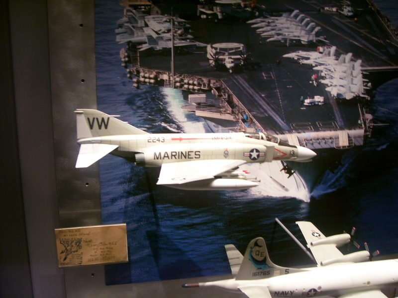 VMFA-314 Phantom in the USNA Museum carrier exhibit